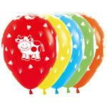 Sempertex Latexballons Bauernhof-Tiere 12 inch / 30 cm