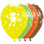 Sempertex Latexballons Dschungel-Tiere 12 inch / 30 cm