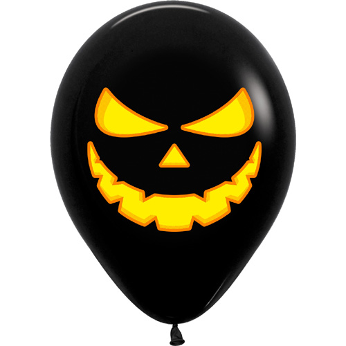 Sempertex Latexballons Halloween-Kürbis /schwarz / 12 inch / 30 cm