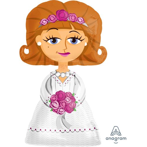 Anagram Folienballon Airwalker Bride / Braut