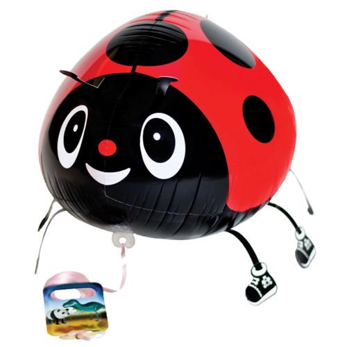Airwalker / Walking Balloon Ladybug Red / Marienkäfer Rot