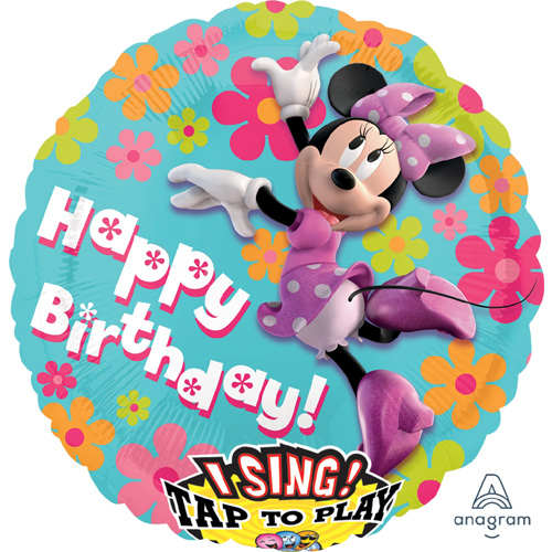 Singender Ballon Happy Birthday – Minnie Mouse