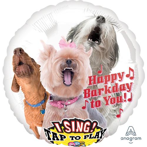 Singender Ballon Happy Birthday – Bellende Hunde