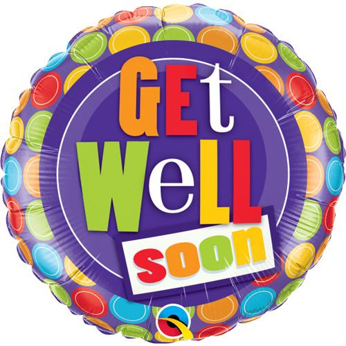 """Qualatex Folienballon """"Get Well Soon""""/ Gute Besserung"""