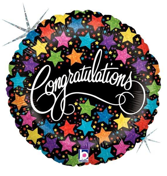 """Betallic Folienballon """"Congratulations"""""""
