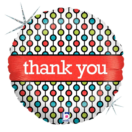 "Betallic Folienballon ""thank you"""