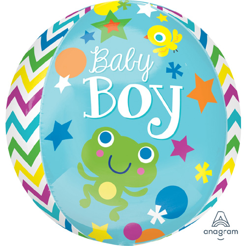 "Anagram Folienballon Orbz ""Baby Boy"""