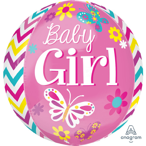 "Anagram Folienballon Orbz ""Baby Girl"""