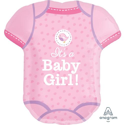 """Anagram Folienballon """"It's a Baby Girl! – Rosa Strampler"""""""