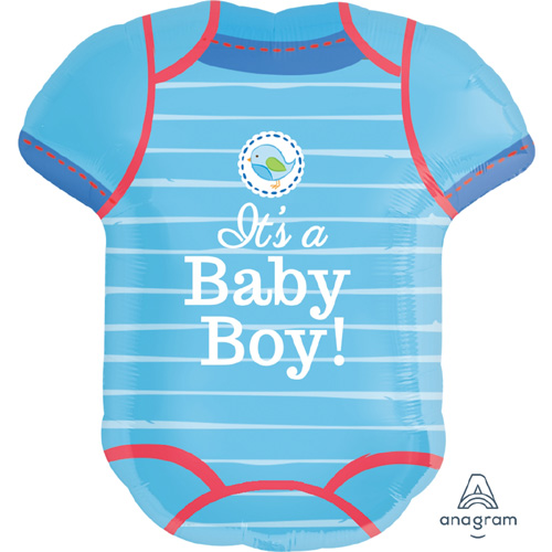 "Anagram Folienballon ""It's a Baby Boy! – Blauer Strampler"""