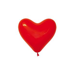 Sempertex Latexballons Herz Rot 6 inch / 15 cm