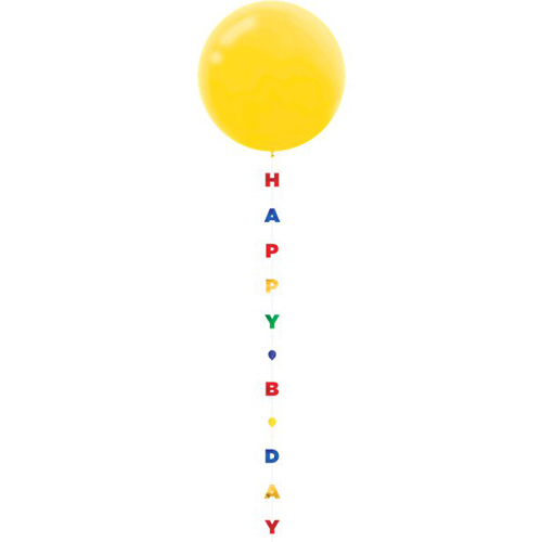 Balloon Tail Happy B-Day