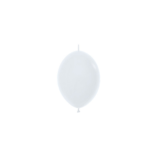 Sempertex Latexballons Link-o-Loon Fashion Solid White 6 inch / 15 cm