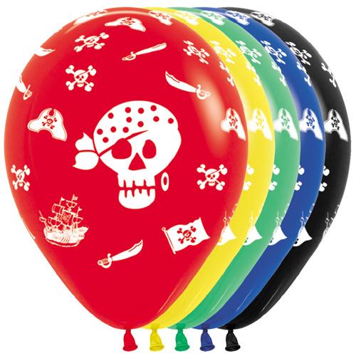 Sempertex Latexballons Totenköpfe - Piraten 12 inch / 30 cm
