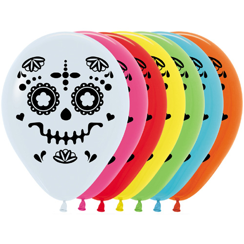 Sempertex Latexballons Sugar Skull 12 inch / 30 cm