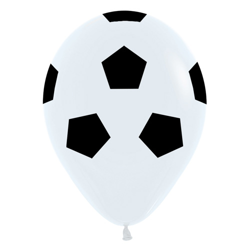 Sempertex Latexballons Fussball 12 inch / 30 cm