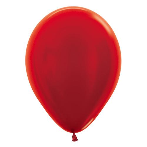 Sempertex Latexballons Metallic Pearl Red 12 inch / 30 cm