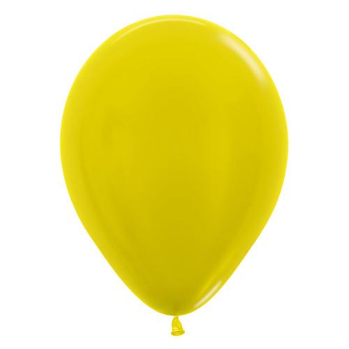 Sempertex Latexballons Metallic Pearl Yellow 12 inch / 30 cm