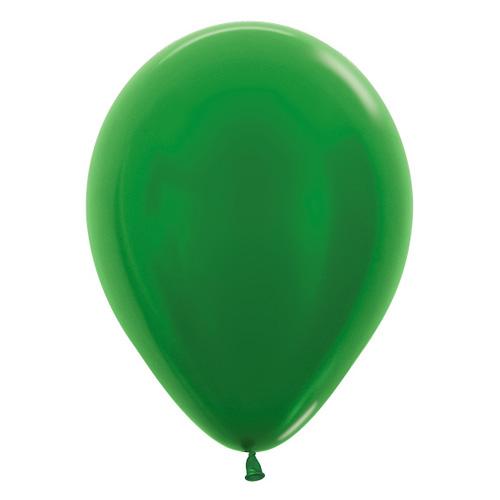 Sempertex Latexballons Metallic Pearl Green 12 inch / 30 cm