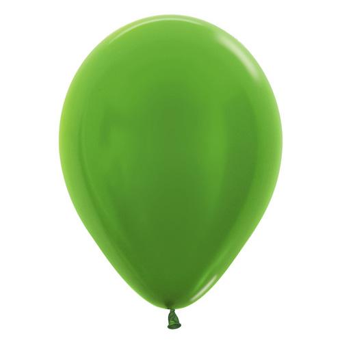 Sempertex Latexballons Metallic Pearl Lime Green 12 inch / 30 cm
