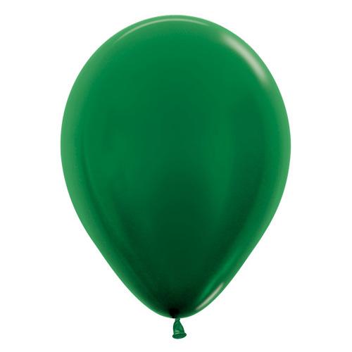 Sempertex Latexballons Metallic Pearl Forest Green 12 inch / 30 cm