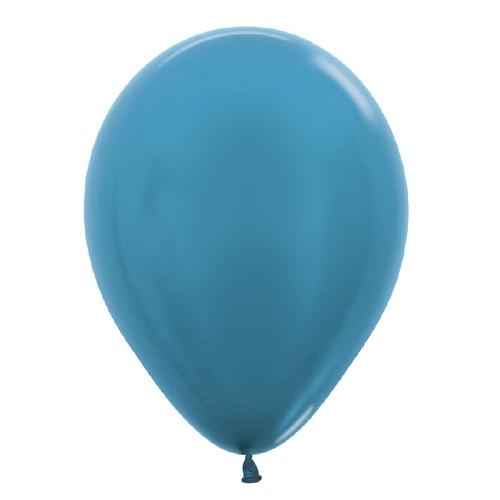 Sempertex Latexballons Metallic Pearl Caribbean Blue 12 inch / 30 cm