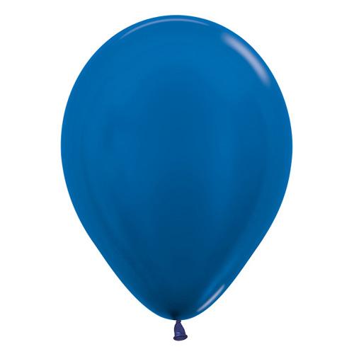Sempertex Latexballons Metallic Pearl Blue 12 inch / 30 cm