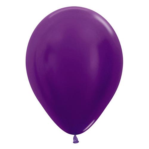 Sempertex Latexballons Metallic Pearl Violet 12 inch / 30 cm