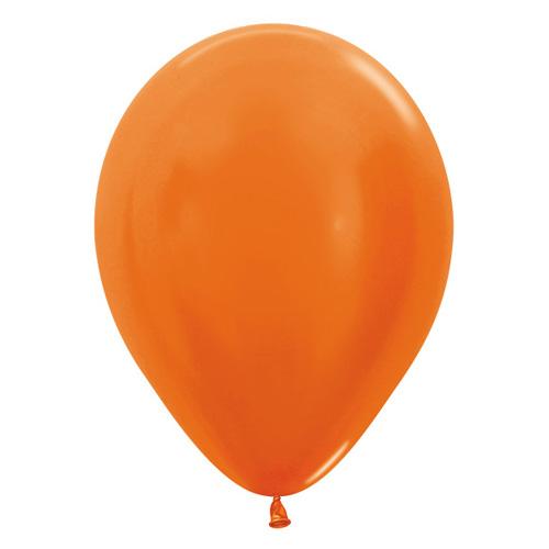 Sempertex Latexballons Metallic Pearl Orange 12 inch / 30 cm