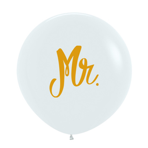 Sempertex Latexballons Goldprint Mr. 24 inch / 60 cm