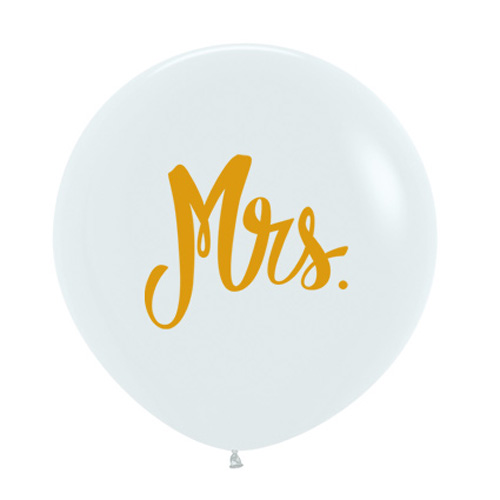 Sempertex Latexballons Goldprint Mrs. 24 inch / 60 cm