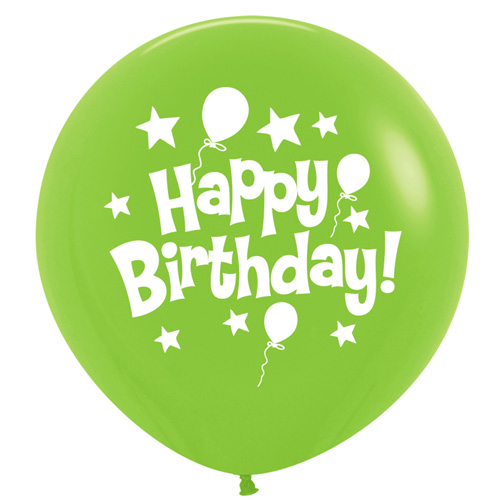 Sempertex Latexballons Happy Birthday / Fashion Solid Lime Green 36 inch / 90 cm