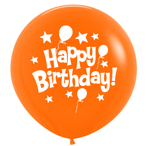 Sempertex Latexballons Happy Birthday / Fashion Solid Orange 36 inch / 90 cm