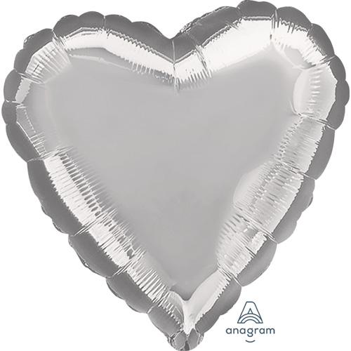 Anagram Folienballon Herz – Silver / Silber