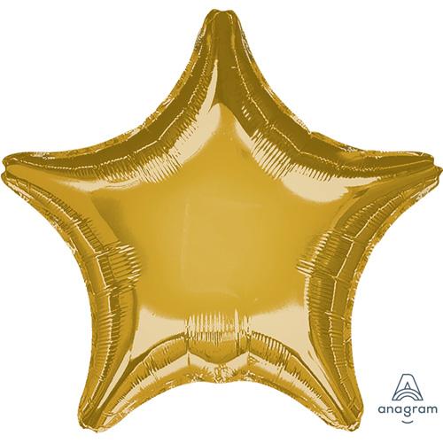Anagram Folienballon Stern – Gold