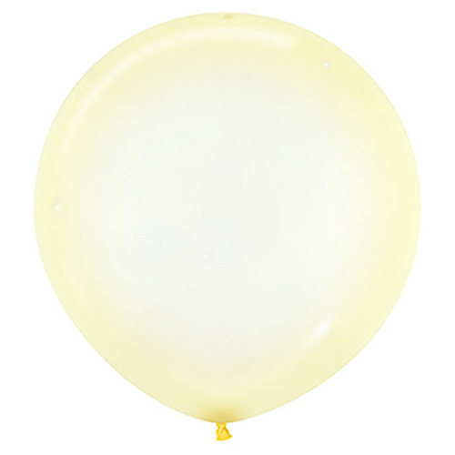 Sempertex Latexballons Crystal Pastel Yellow / Gelb 24 inch / 60 cm