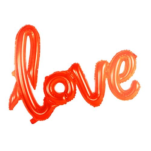 Folienballon Schriftzug Love Rot