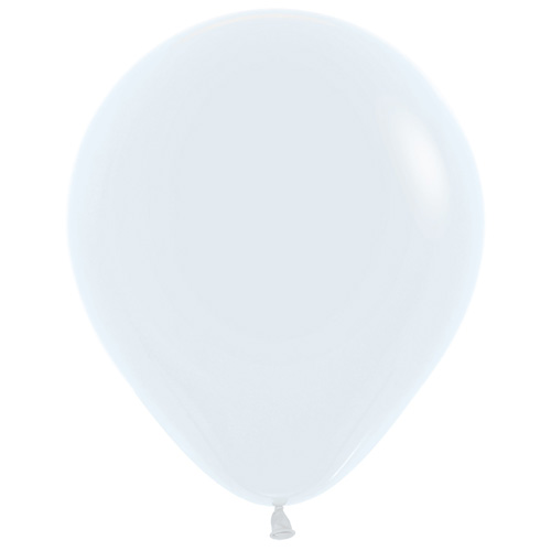 Sempertex Latexballons Fashion Solid Color White / Weiss 18 inch / 45 cm