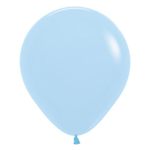 Sempertex Latexballons Patel Matte Blue / Blau 18 inch / 45 cm